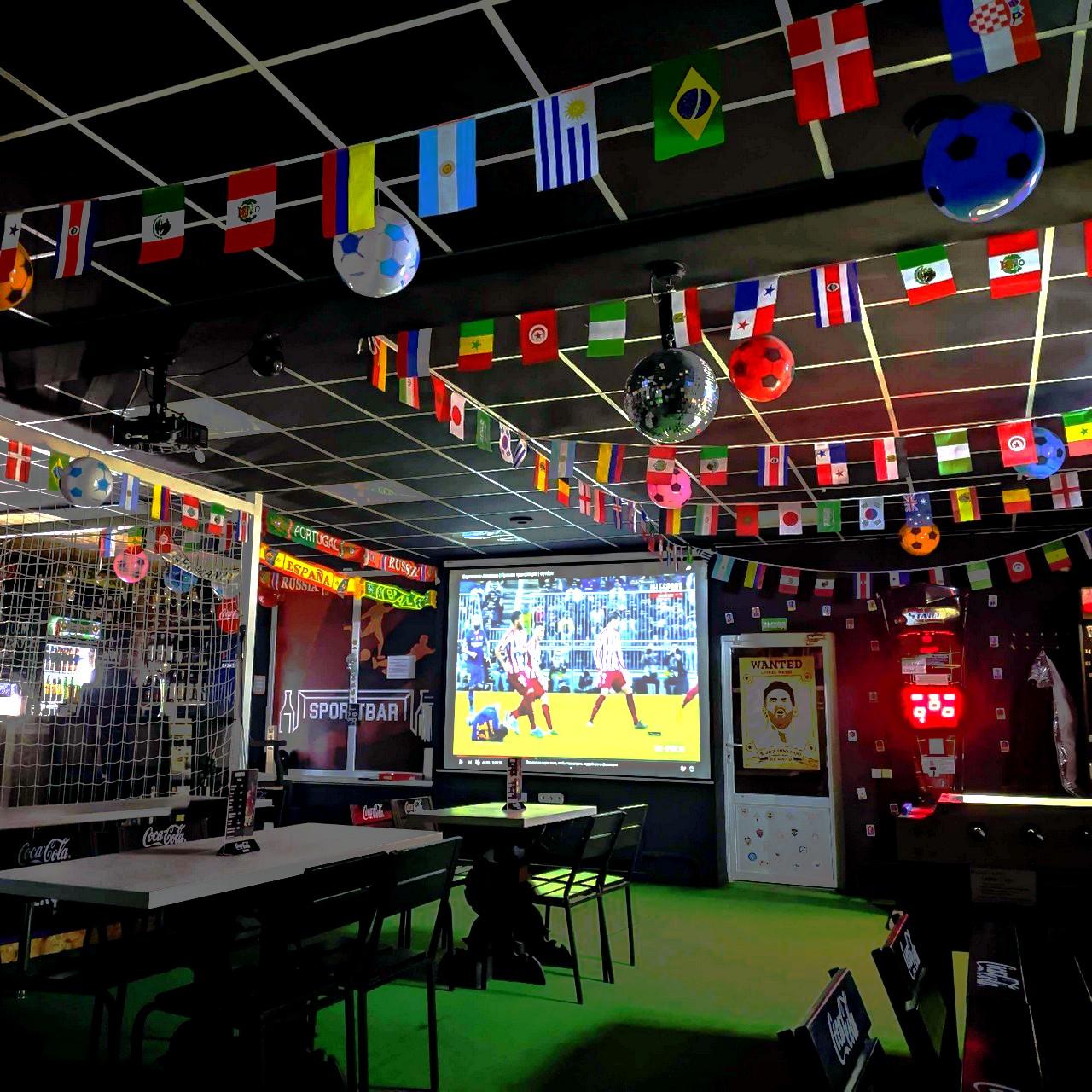 трансляция футбола в баре_crossbar_minsk