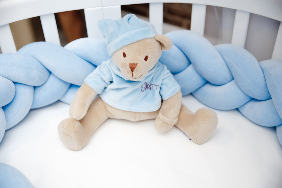 Мишка голубой Drema BabyDou 102 Игрушка с белым и розовым шумом
