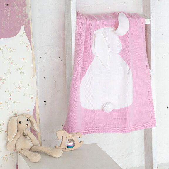 Зайка розовый APERO 60х120 см детский плед