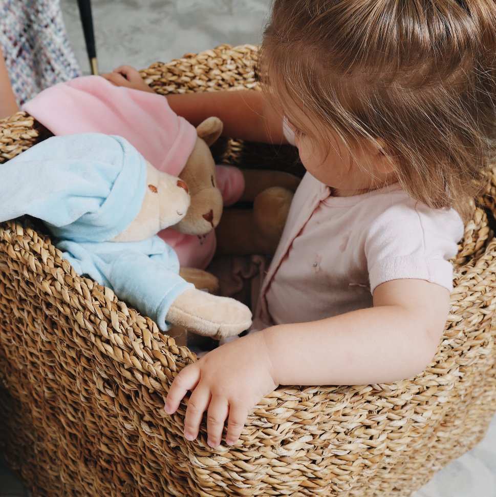 Мишка розовый Drema BabyDou Игрушка с белым и розовым шумом