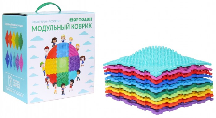 Ассорти 10 пазлов Ортодон ортопедический массажный коврик №10 ОРТО