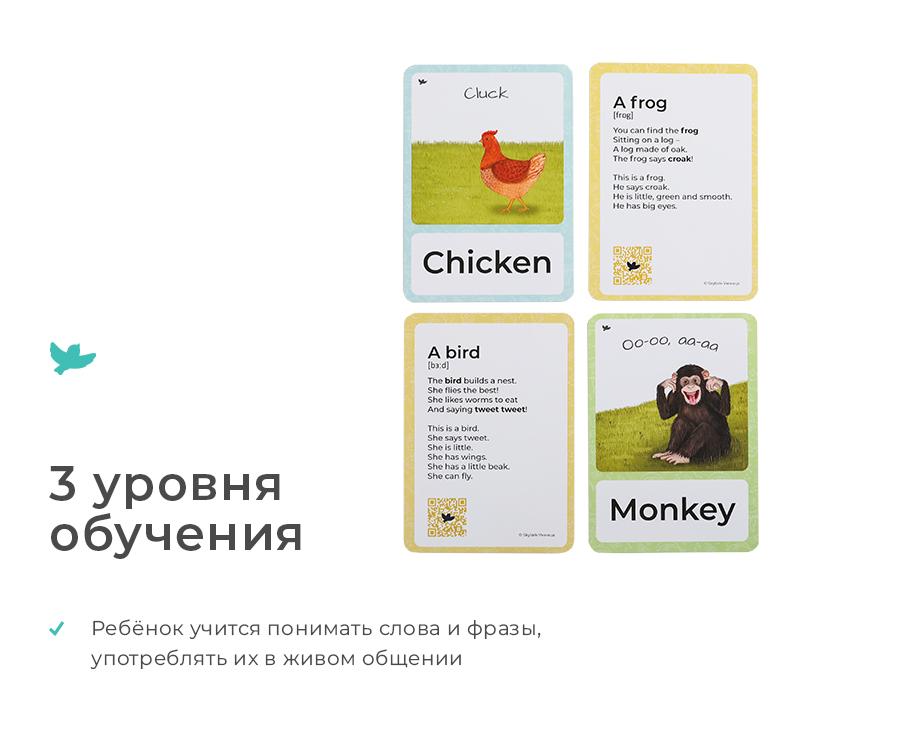 Animals Умница Изучение английского языка по карточкам с озвучкой S22 9785916663549 фотографии и картинки