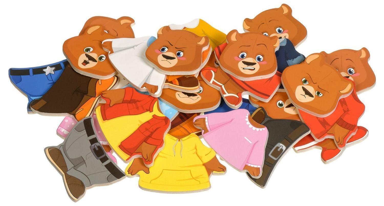 Четыре медведя МДИ Д165 деревянный пазл-игрушка