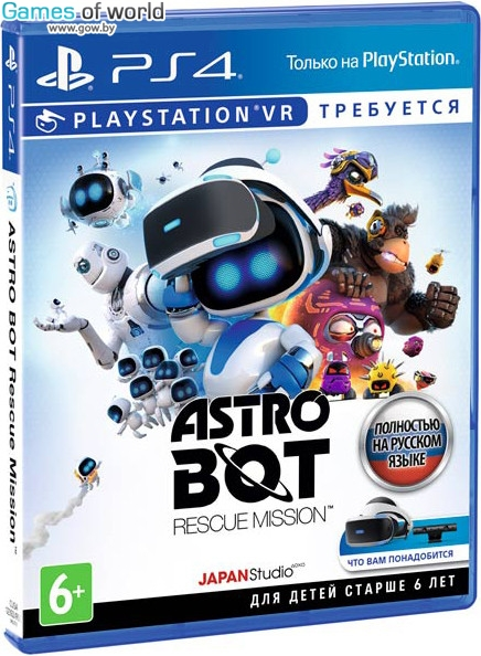 Astro Bot Rescue Mission для PS VR от магазина Games of World