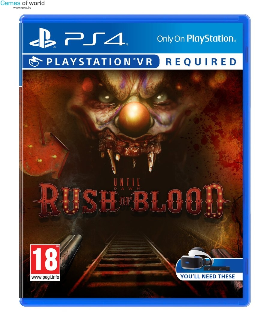 Until Dawn Rush Of Blood (только для VR) PS 4 от магазина Games of World