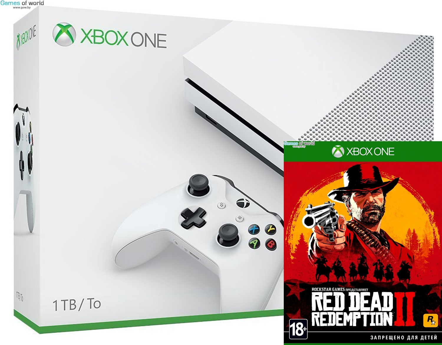 Xbox One S 1TB + RED DEAD REDEMPTION 2 от магазина Games of World